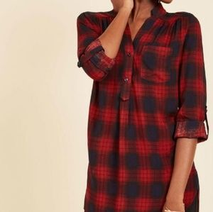 Modcloth Plaid Tunic